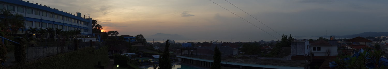Sonnenaufgang hinterm Hotel Marcopolo Lampung