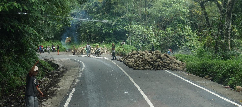 Verkehrshindernis, Sumatra Selatan